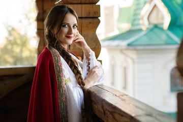 Girl in Russian costume