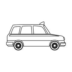 Taxi cab vehicle vector illustration graphic design