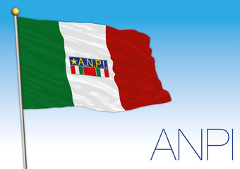 Italy, Anpi flag, historical association