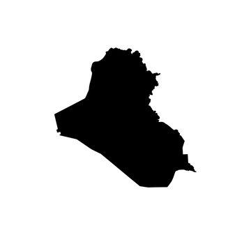 map of Iraq. vector illustration