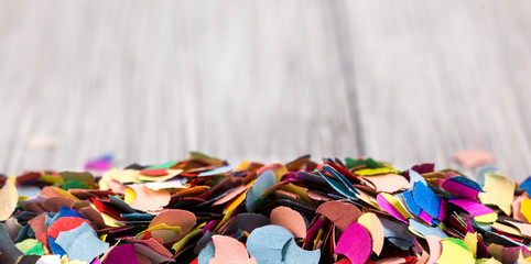 colorful confetti for party