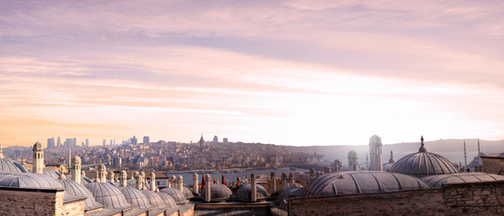 Nice view in the city of Istanbul in Turkey