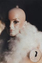 Bald woman mannequin
