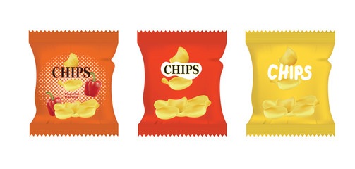 Potato chips. vector illustration