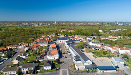Photo aérienne de Saint Jean de Boiseau et Coueron en Loire Atlantique