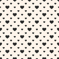 Vector hearts seamless pattern. Valentines day background. Love romantic theme