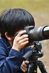 少年のカメラマン