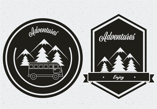 Wanderlust Badge Set