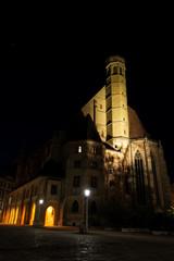 Minoritenkirche Wien bei Nacht