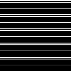 Seamless vector stripe pattern with horizontal parallel stripes in white with a black background. Texture background.
