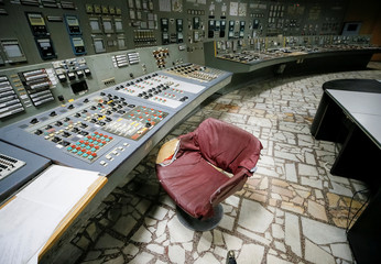 A control centre of the stopped third reactor is seen at the Chernobyl nuclear power plant in Chernobyl
