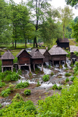 Cabins on the river. Travel and tourisam concept.
