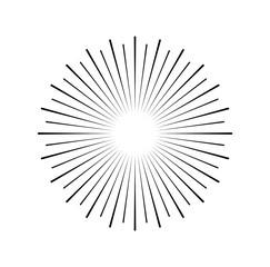 Sunburst.  illustration isolated on white