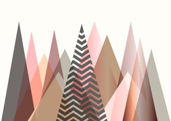 Abstrakte Berglandschaft im skandinavischen Stildesign