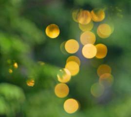 Circles of blurred lights