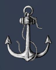 Hand drawn metal shank anchor