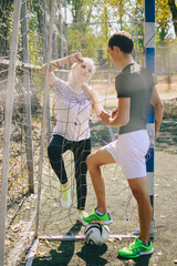 couple doing sporty activities together