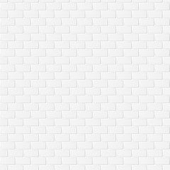 White Grey Brick Wall Texture Background. Seamless pattern.