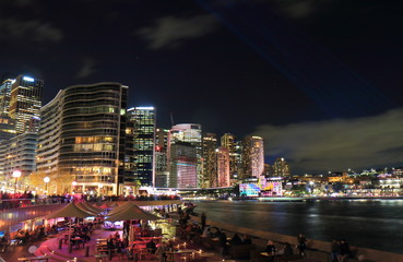 Circular Quay downtown cityscape Sydney Australia