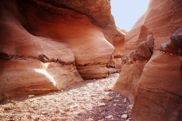 Red Canyon, Geological nature park in Eilat