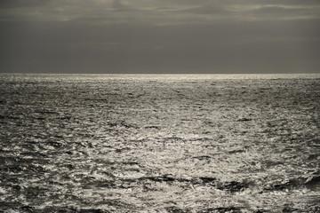 Sun shimmering on sea