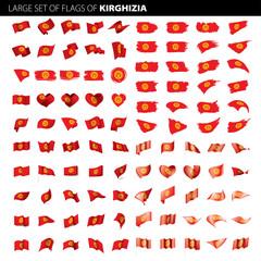 kirghizia flag, vector illustration