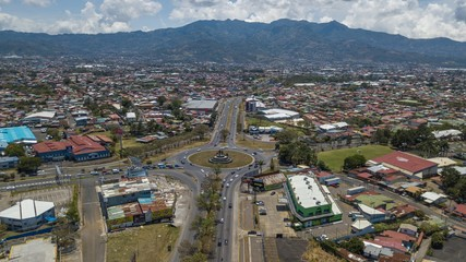 Beutiful aerial view of the San Jose, San Pedro and Zapote