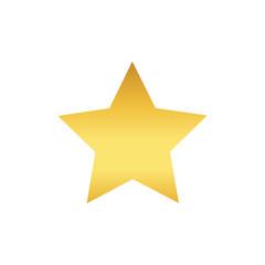 Winner star vector icon, gold design