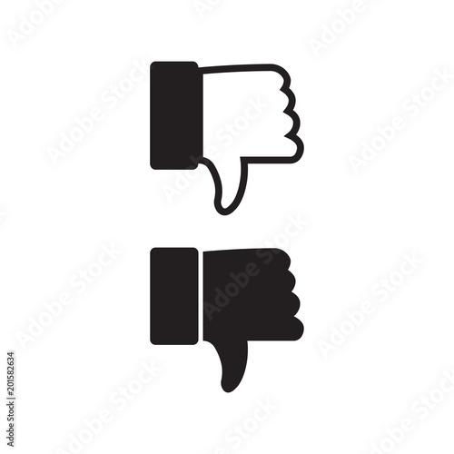 Unlike Vector Icon Dislike Symbol Bad Sign Stock Image And
