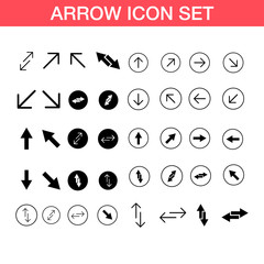 Arrow vector icon, set