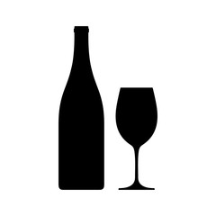 Bottle and a wineglass icon