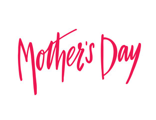 Happy Mothers Day lettering. Hand drawn vector illustration.