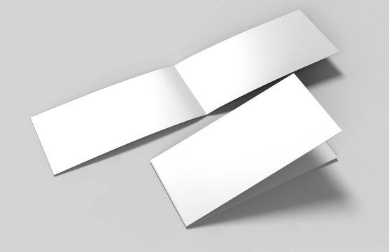 Landscape brochure blank white template for mock up and presentation design. 3d illustration.