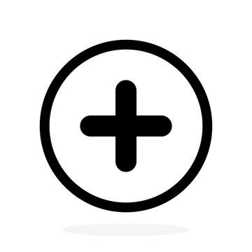 Plus vector icon, add symbol. Health sign