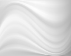 Abstract grey and white color tone wavy lines background.