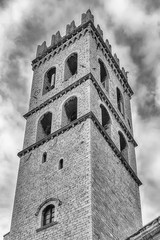 Fototapete - Belltower of the Temple of Minerva, landmark in Assisi, Italy