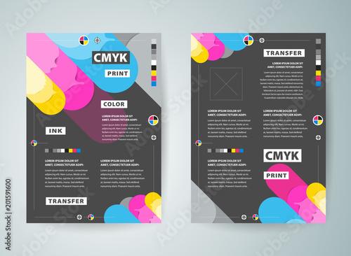 Flyer brochure design  Front and back template design cover