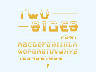 Strict font. Vector alphabet