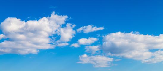 clouds on a blue evening sky