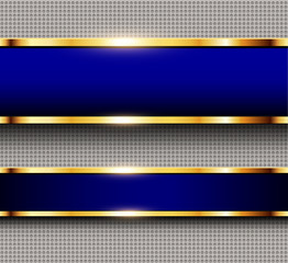 Business background blue and gold