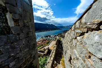 View from the top of the fortress of St. Ivan on Kotor