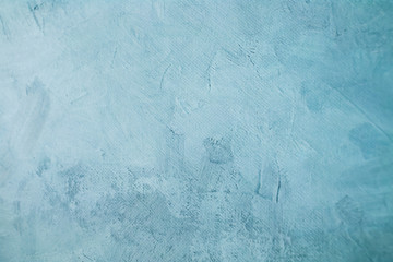 clear blue stained canvas painting draft detail, background or texture