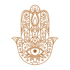 Vector illustration. Hamsa on a white background.