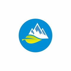 mountain logo design for nature and adventure