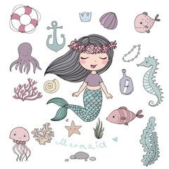 Marine illustrations set.