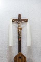 Jesus christ opn the cross in a church