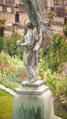 Bronze Angel of Peace memorial to Edward VII in Parade Gardens in the city of Bath Somerset UK