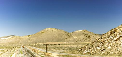 Trains in the desert