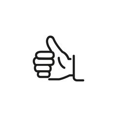 Thumb up line icon