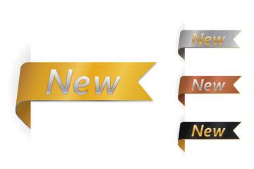 Set of new label design. Vector illustration
